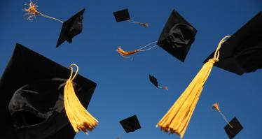 graduation hats banner